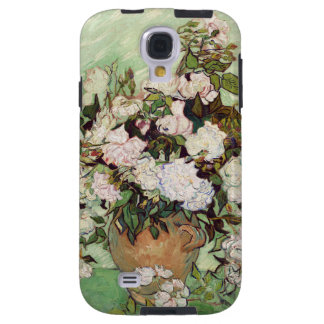 Vincent Van Gogh Vase With Pink Roses Floral Art Galaxy S4 Case