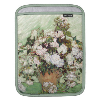 Vincent Van Gogh Vase With Pink Roses Floral Art Sleeves For iPads