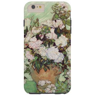 Vincent Van Gogh Vase With Pink Roses Floral Tough iPhone 6 Plus Case