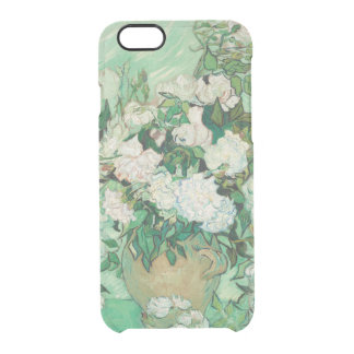 Vincent van Gogh Vase with Pink Roses GalleryHD Clear iPhone 6/6S Case