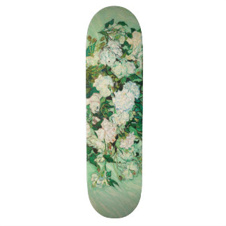 Vincent van Gogh Vase with Pink Roses GalleryHD Skateboard