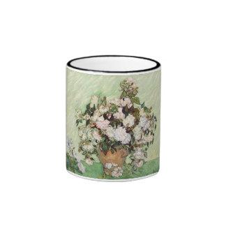 Vincent Van Gogh Vase With Pink Roses Coffee Mug
