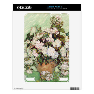 Vincent Van Gogh Vase With Pink Roses Kindle Decal