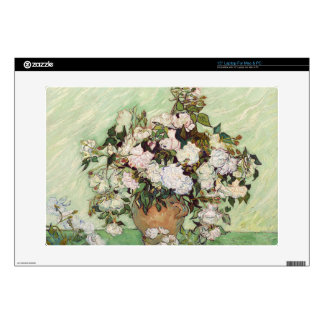 """Vincent Van Gogh Vase With Pink Roses Decal For 15"""" Laptop"""