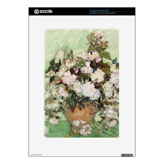 Vincent Van Gogh Vase With Pink Roses Decal For Kindle DX