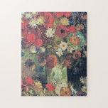 """Vincent Van Gogh - Vase with Poppies, Cornflowers Jigsaw Puzzle<br><div class=""""desc"""">Vincent Van Gogh - Vase with Poppies,  Cornflowers,  Peonies and Chrysanthemums</div>"""