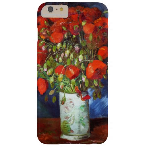 Vincent Van Gogh Vase with Red Poppies Fine Art Barely There iPhone 6 Plus Case