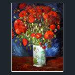 "Vincent Van Gogh Vase with Red Poppies Fine Art Postcard<br><div class=""desc"">Vincent Van Gogh Vase with Red Poppies Fine Art Postcard</div>"