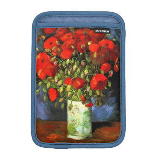 Vincent Van Gogh Vase With Red Poppies Floral Art Sleeve For iPad Mini
