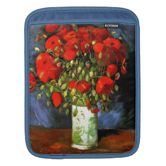 Vincent Van Gogh Vase With Red Poppies Floral Art Sleeves For iPads