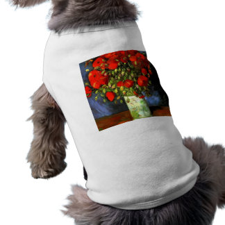 Vincent Van Gogh Vase With Red Poppies Floral Art Tee