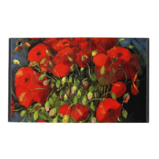 Vincent Van Gogh Vase With Red Poppies iPad Case