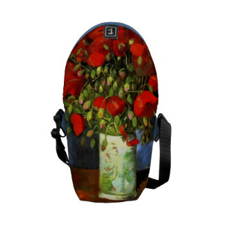 Vincent Van Gogh Vase With Red Poppies Courier Bag