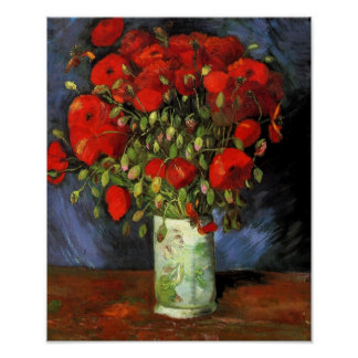 Vincent Van Gogh - Vase With Red Poppies Posters