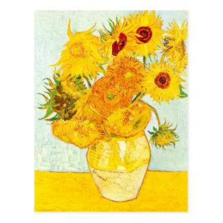 Vincent van Gogh Vase with Twelve Sunflowers Art Postcard