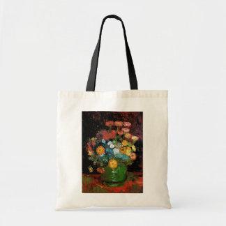 Vincent Van Gogh - Vase With Zinnias Fine Art Tote Bag