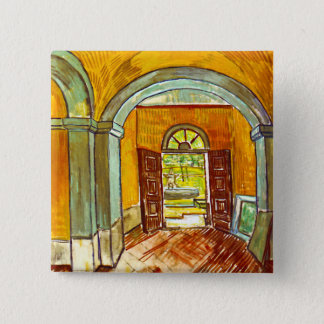 Vincent Van Gogh - Vestibule Of The Asylum Button