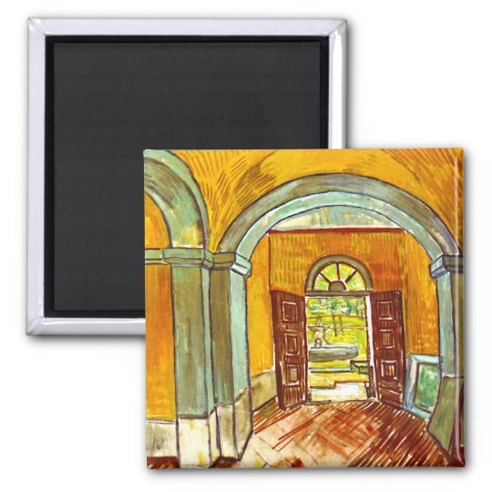 Vincent Van Gogh - Vestibule Of The Asylum Magnet
