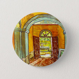 Vincent Van Gogh - Vestibule Of The Asylum Pinback Button