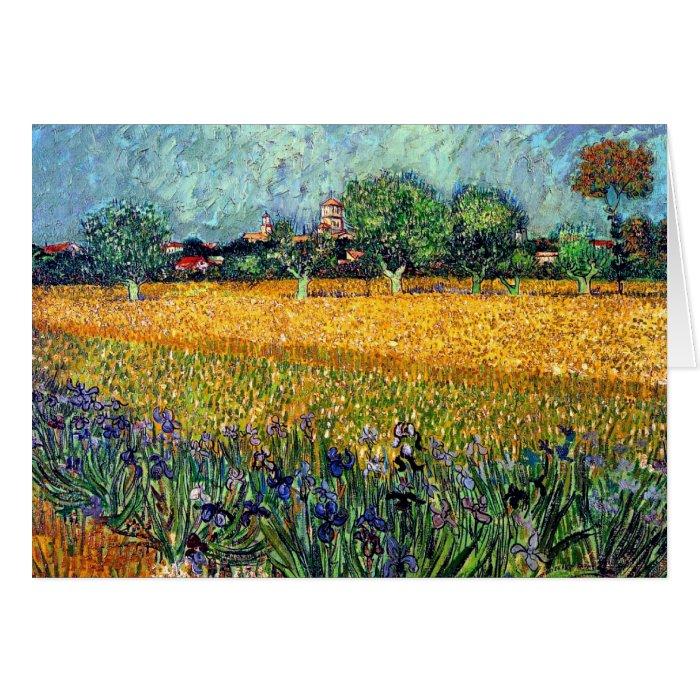 Vincent Van Gogh - View Of Arles With Irises Card