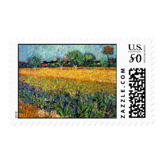 Vincent Van Gogh - View Of Arles With Irises Postage