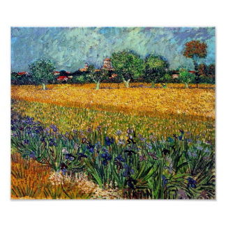 Vincent Van Gogh - View Of Arles With Irises Poster