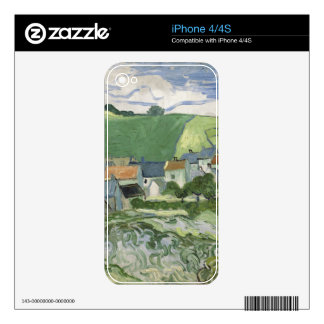 Vincent van Gogh - View of Auvers Skins For iPhone 4S