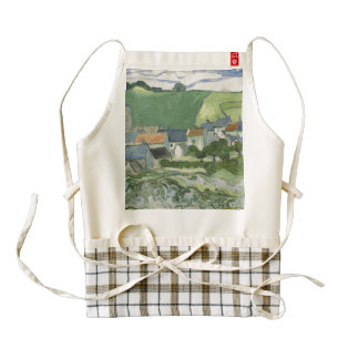 Vincent van Gogh - View of Auvers Zazzle HEART Apron