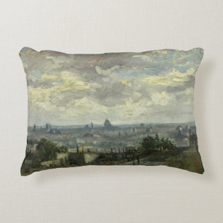 Vincent van Gogh - View of Paris Accent Pillow