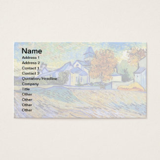 Vincent Van Gogh - View of the Asylum and Chapel Business Card