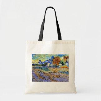 Vincent Van Gogh - View of the Asylum and Chapel Tote Bag