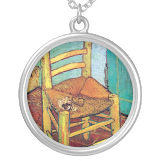 Vincent Van Gogh - Vincent's Chair With Pipe Silver Plated Necklace
