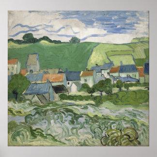 Vincent van Gogh - vista de Auvers Póster