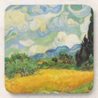 Vincent Van Gogh Wheat Field Drink Coaster