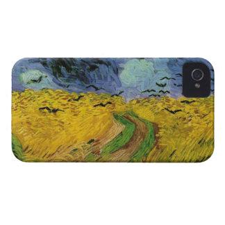 Vincent van Gogh Wheat Field Threatening Skies iPhone 4 Cases