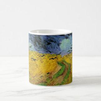 Vincent van Gogh Wheat Field Threatening Skies Coffee Mug