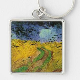Vincent van Gogh Wheat Field Threatening Skies Keychain