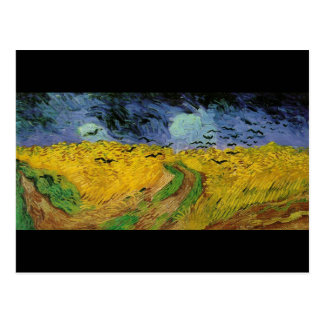 Vincent van Gogh Wheat Field Threatening Skies Postcard