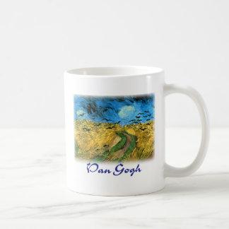 Vincent Van Gogh - Wheat Field Under Threatning Coffee Mug