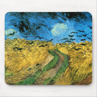 Vincent Van Gogh - Wheat Field Under Threatning Mouse Pad