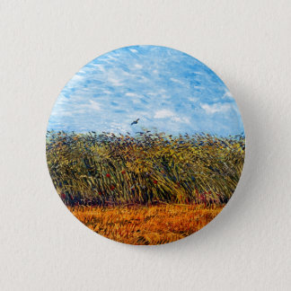 Vincent Van Gogh - Wheat Field With A Lark Button