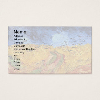 Vincent Van Gogh - Wheat Field with Black Crows Business Card