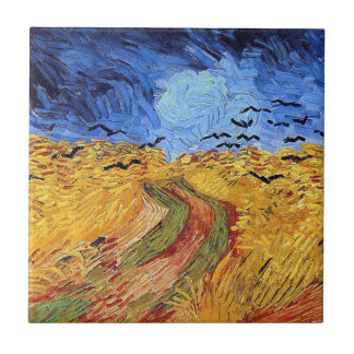 Vincent Van Gogh - Wheat Field with Black Crows Ceramic Tile
