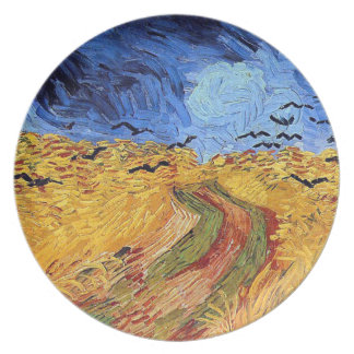 Vincent Van Gogh - Wheat Field with Black Crows Dinner Plate