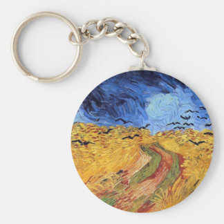 Vincent Van Gogh - Wheat Field with Black Crows Keychain