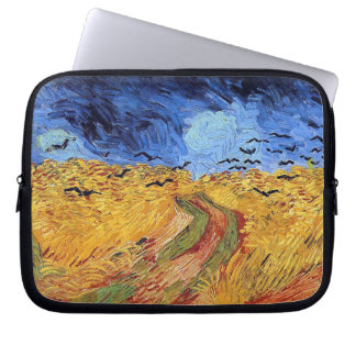 Vincent Van Gogh - Wheat Field with Black Crows Laptop Sleeve