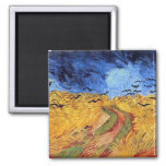 Vincent Van Gogh Wheat Field with Black Crows Refrigerator Magnet