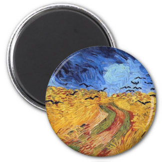 Vincent Van Gogh Wheat Field with Black Crows Fridge Magnets