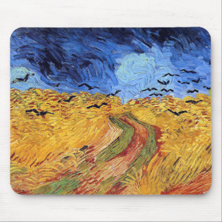 Vincent Van Gogh - Wheat Field with Black Crows Mouse Pad