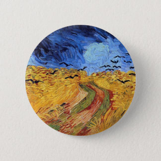 Vincent Van Gogh - Wheat Field with Black Crows Pinback Button